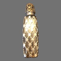 Estee Lauder,  France Super Perfume Bottle Sterling Silver overlay and Cap