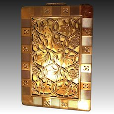 Henry Clifford Davis Birmingham Sterling and gold overlay compact