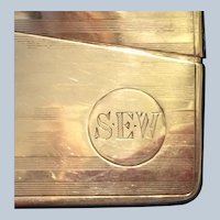 Sterling Silver 925  machined Business Card Case monogrammed