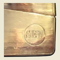 Sterling Silver machined Business Card Case monogrammed