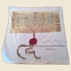 Scarf commemorating der Winterthur Stadtrecht 22 juni 1264