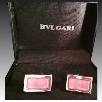Pair of Bulgari Bvlagri Cufflinks Mint in box
