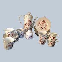 Jlmenau Graf Von Hennenberg Porcelain 20 piece Tea Set floral design