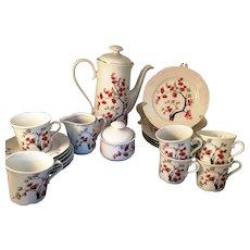 Jlmenau Graf Von Hennenberg Porcelain 20 piece Tea Set