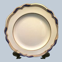 Spode porcelain Sutherland Dinner Plate Cobalt and Gold