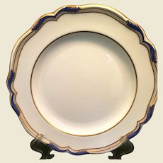 Spode porcelain Sutherland Dinner Plate Cobalt and Gold