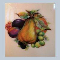 2 Lenox Special  Porcelain Plates Fruit designs