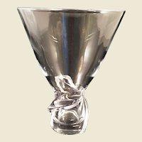 Steuben Crystal Spiral Vase by Donald Pollard