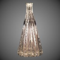 Tall Cut glass scent perfume bottle
