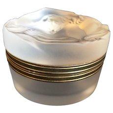 Lalique  crystal Daphne powder puff box