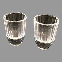 2 Swarovski  Silver Crystal Schnapps Shot Glasses