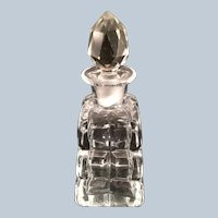 Crystal Perfume bottle with beveled diamond pattern