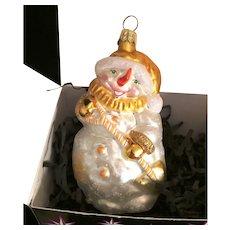 Christopher Radko Snowman christmas ornament MIB