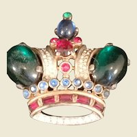 Trifari Alfred Philippe Sterling Royal Crown pin brooch