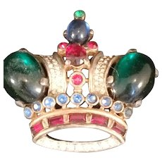 Trifari Alfred Philippe Sterling Royal Crown pin brooch