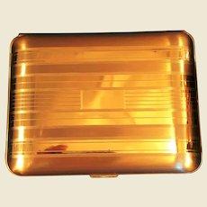 1940s Elgin American gold tone Cigarette Case