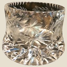 Sparkling Cut Glass champagne or Wine Coaster