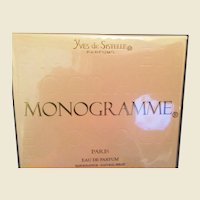 Unopened bottle of Monogramme Eau de Parfum Spray by Yves de Sistelle