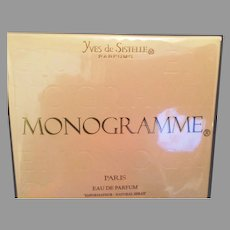 Unopened bottle of Monogramme Eau de Parfum Spray by Yves de Sistelle