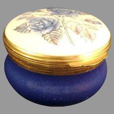 Crummles & Co. England trinket box with Blue Flowers