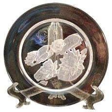 1979 Daum  France  Waterlily Crystal plate