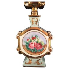 Amogee France porcelain hand painted Perfume Bottle