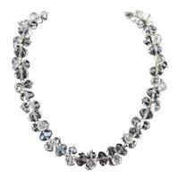 Nolan Miller Facet Cut Leaded Crystal Glass Cluster Bead Vintage Necklace