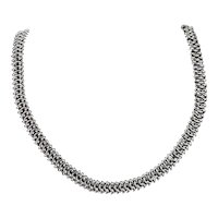 Trifari Vintage Highly Polished Chunky Woven Chainmaille Collar Choker Necklace