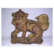 Hand Carved Foo Dog - Temple Dog/Lion