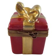 Limoges Red Gift Box with 24K Gold (Retired)