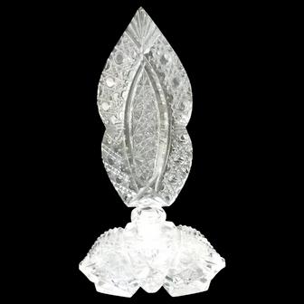 Vintage Signed Czechoslovakia Crystal Perfume Bottle