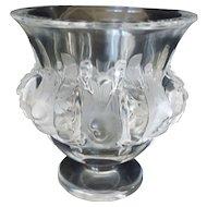 "Lalique ""Dampierre' Crystal/Frosted Vase"