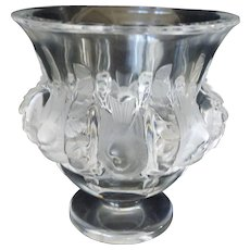 "Lalique ""Dampierre' Crystal/Frosted Vase"