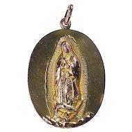 14K-16K Yellow Gold Pendant of Virgin Mary