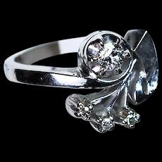 14K White Gold & Diamonds Ring