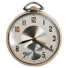 Waltham 21 Jewel 12 size Pocket Watch .. Colonial