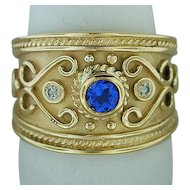 Le Vian 14K Yellow Gold Ring with Sapphire and Diamonds Ring