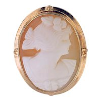 10K Yellow Gold Shell Cameo