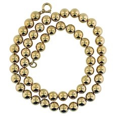 """15"""" Gold Filled Bead Necklace"""