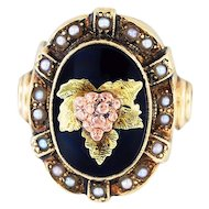 10K Gold & Pearls Ostby and Barton Ring