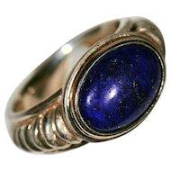 Sterling & 14K Gold Lapis Lazuli Ring