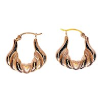 Pair of 14K Yellow Gold Earrings