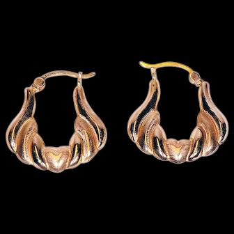 Pair of 14K Yellow Gold Earrings