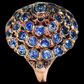 14K Gold Ring w/ Ceylon Sapphires