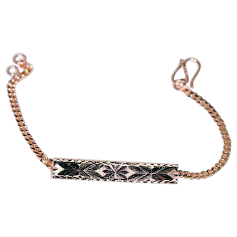 18K ID Style Bracelet for a Smaller Wrist
