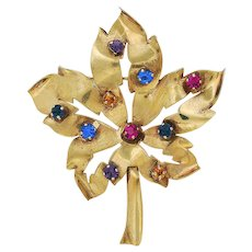 Gold Plated Sterling Rhinestone Pin
