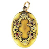 Heavy Gold Filled Two Picture Locket / Pendant
