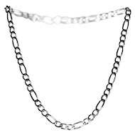 Heavy Sterling Necklace in Figaro Style