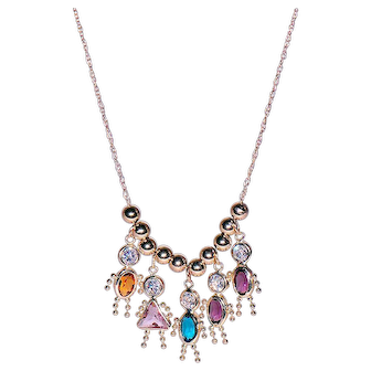 14K Yellow Gold Necklace with Stylized Children's Charms