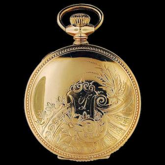 Elgin 15 Jewel 6 sz Gold Filled Hunting Case Pocket Watch